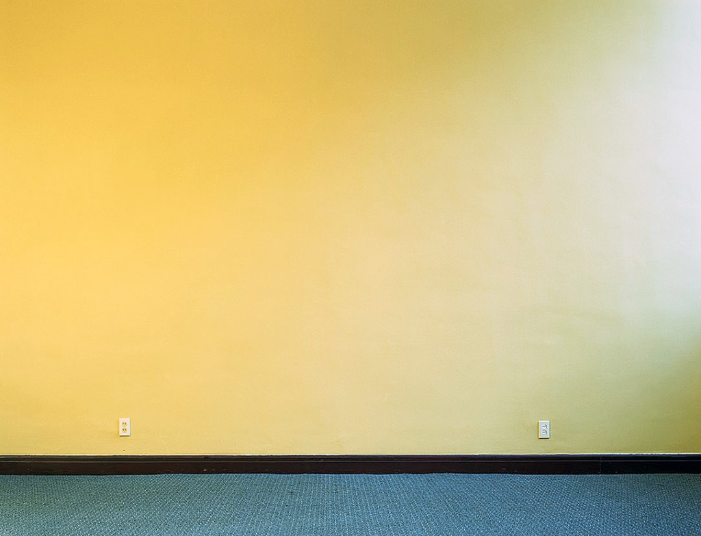 photo displayed in the installation [yellow wall]
